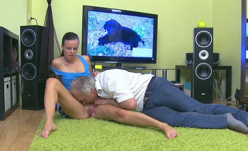 Tina isnt too sure what to do with this old guy when she bop first encounters him but wank soon finds out